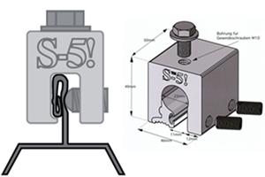 Montagesystem Stehfalz und Rundfalz S-5! Klemmen