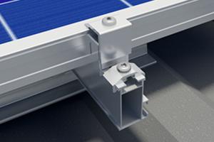 Montagesysteme Industriedach Trapezblechschiene hochkant