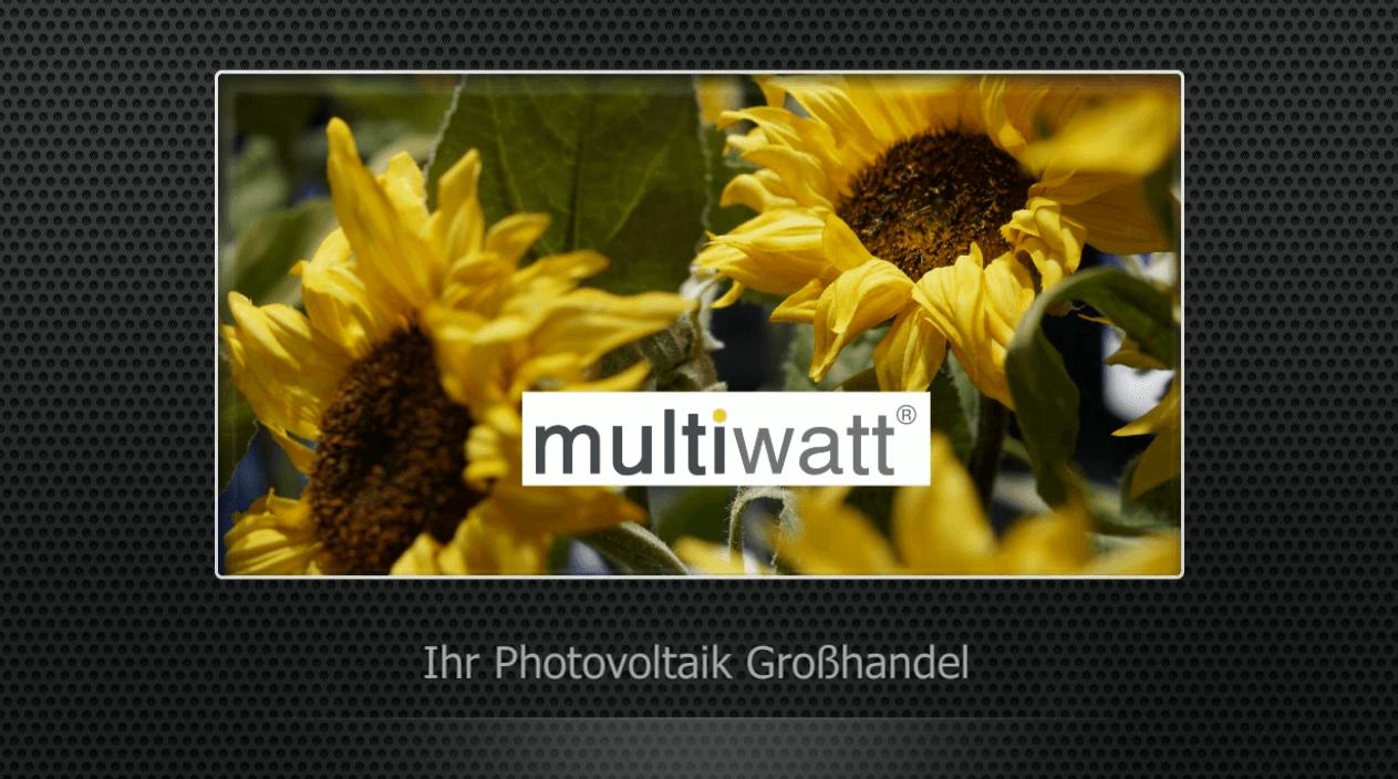 multiwatt® Photovoltaik Großhandel – Imagefilm
