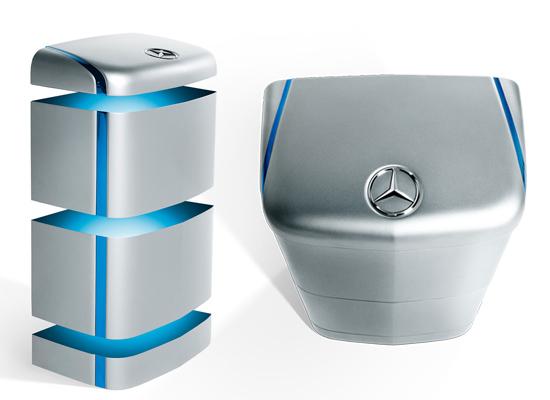 Mercedes Benz Energiespeicher von oben & schemtaisch